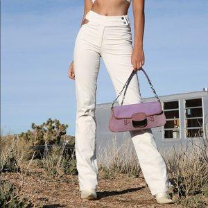 I.AM.GIA - Kayla Cutout StraightLeg White Corduroy